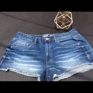 "Mossimo Supply Co ""High Rise' Denim Shorts"
